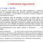 ordinanza ingiunzione, art. 18 L. 689/81 avv. Giovanni Longo Pisa