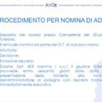 Nomina amministratore di sostegno avv. Giovanni Longo Pisa