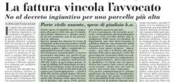 parcella fattura avvocato Giovanni Longo Pisa
